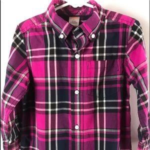 Gymboree Girls Plaid Button Down Shirt 3T